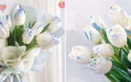 情人節就送這束!韓國超紅「冰雪奇緣鬱金香」用藍白色擄獲她的心❤