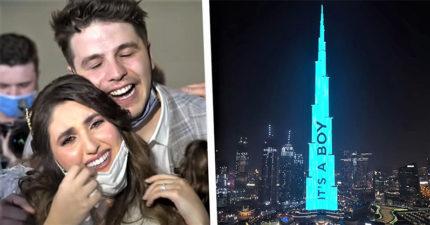 豪砸300萬!網紅夫妻「包下世界最高樓」公布寶寶性別
