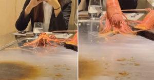鐵板上「龍蝦狂跳」活活燙到死?她怒批「很殘忍」網兩派戰翻